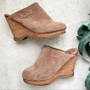 Lucky Brand Faux Fur Clogs